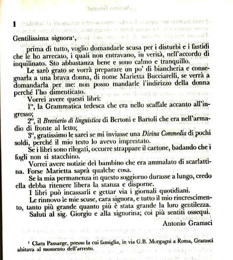 """Antonio Gramsci Lettere Dal Carcere: Istituto Di Secondaria Superiore """"Pietro Giannone"""": 80"""